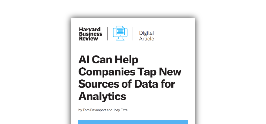AI for New Sources of Data Analytics