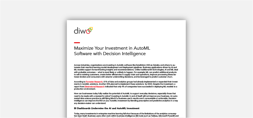 Maximize AutoML with Decision Intelligence